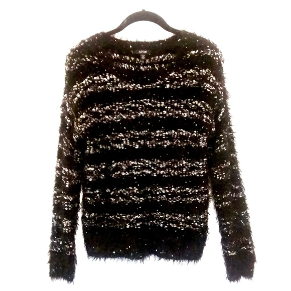 Apt 9 Sweaters Apt 9 Fluffy Shimmer Sweater With Sequins Small